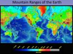 mountain ranges of the earth