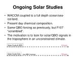 ongoing solar studies