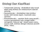 etiologi dan klasifikasi