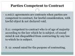 parties competent to contract