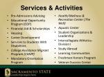 services activities