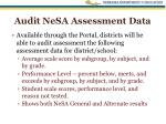 audit nesa assessment data