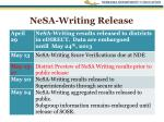 nesa writing release