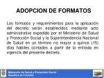 adopcion de formatos