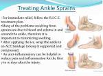 treating ankle sprains