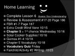 home learning2