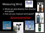 measuring wind