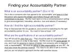 finding your accountability partner