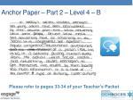anchor paper part 2 level 4 b
