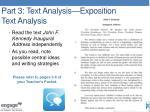part 3 text analysis exposition text analysis