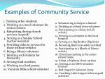 examples of community service