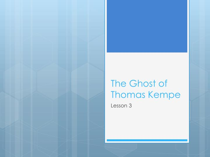 the ghost of thomas kempe n.