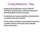 caring behaviors tips