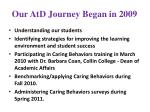 our atd journey began in 2009