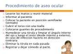 procedimiento de aseo ocular