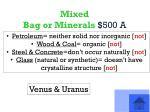 mixed bag or minerals 500 a