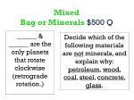 mixed bag or minerals 500 q