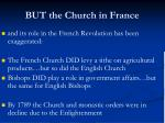 but the church in france