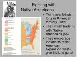 fighting with native americans