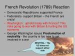 french revolution 1789 reaction