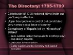 the directory 1795 1799