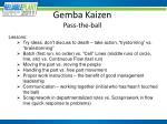 gemba kaizen pass the ball4