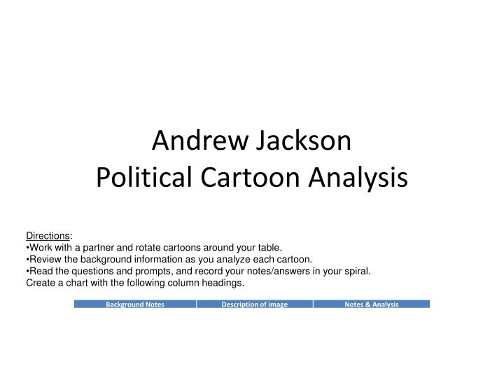 andrew jackson political cartoon analysis n.
