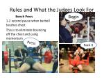 rules and what the judges look for1