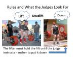 rules and what the judges look for3