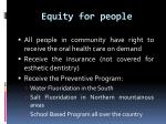 equity for people