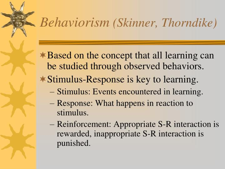 skinner theory of learning