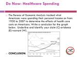 do now healthcare spending