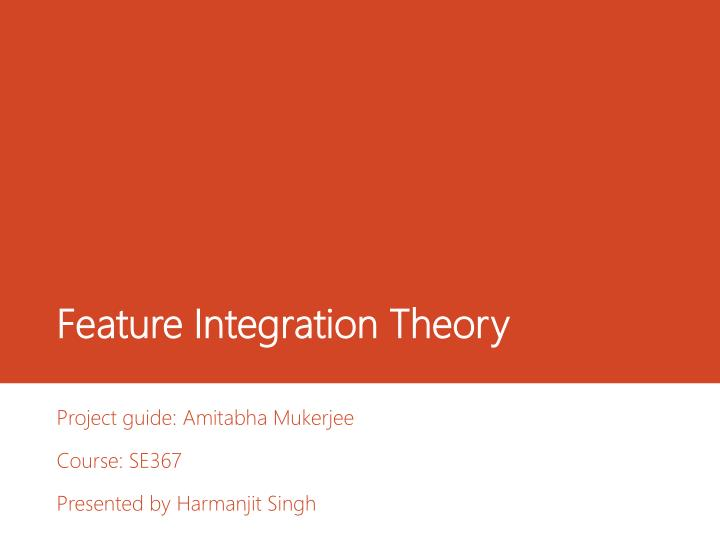 feature integration theory n.