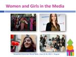 women and girls in the media