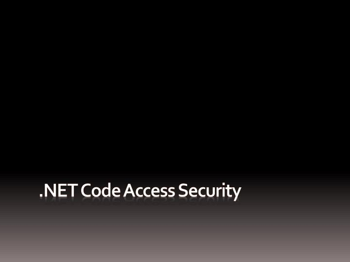 net code access security n.