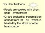 dry heat methods