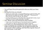 seminar discussion