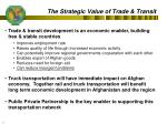 the strategic value of trade transit