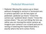 pedestal movement