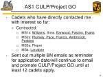 as1 culp project go