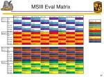msiii eval matrix