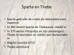 sparta en thebe