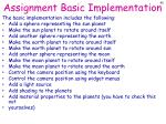 assignment basic implementation