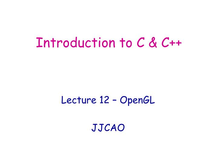 introduction to c c n.