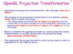 opengl projection transformation
