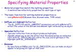 specifying material properties