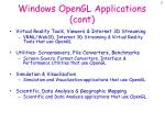 windows opengl applications cont