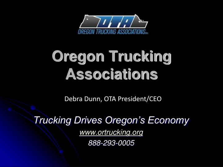 oregon trucking associations n.