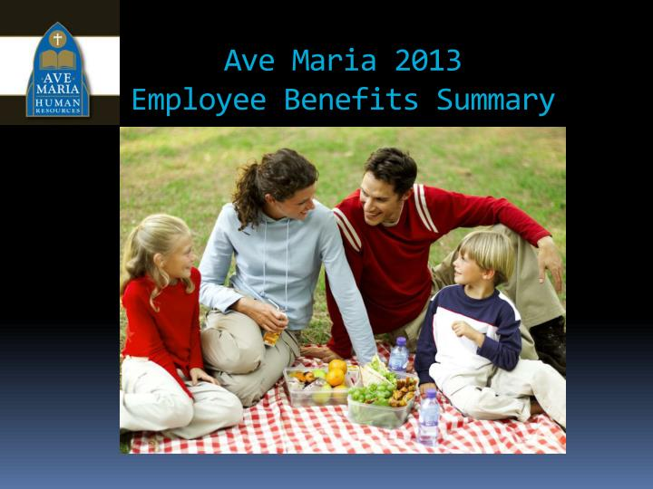 ave maria 2013 employee benefits summary n.