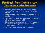 feedback from infolit study classroom action research